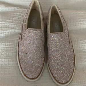 UGG Iridescent Sparkle Slip on Sneaker